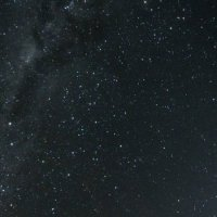 The milky way, the zodiacal light & the moon