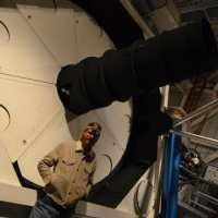 P. Gaulme in front of the 3.5m telescope at APO
