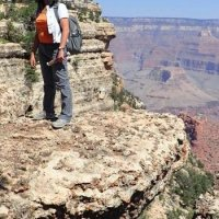 Grand Canyon - dangerous position